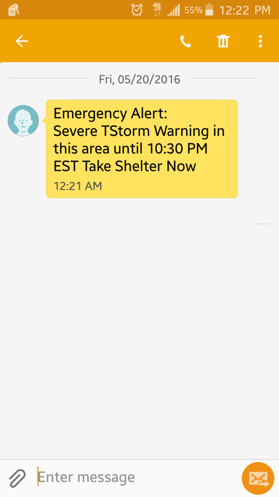 Text Message Alert - Hurricane Preparedness Week - Trusted Sources of Information