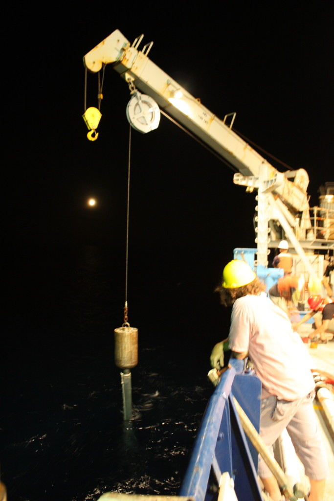 Ocean core extraction - RV Roger Revelle