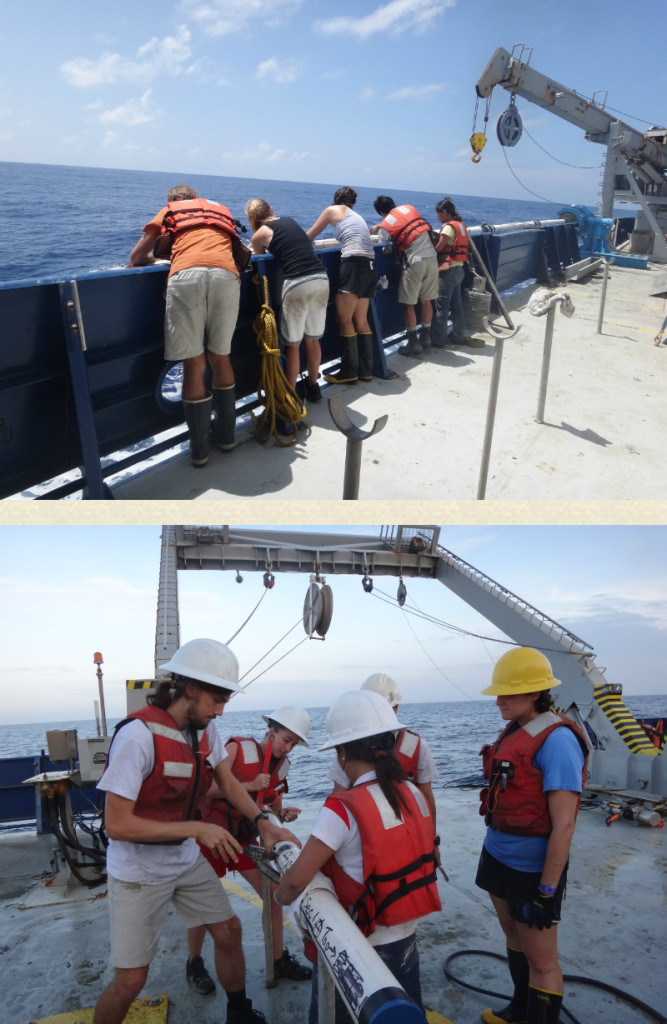 Retrieving Core and working - RV Roger Revelle